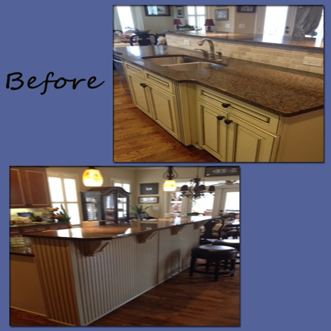 Kitchen Island With Raised Bar: Kitchen Island Remodel Before And After